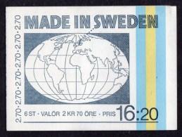 SWEDEN - 1984 MADE IN SWEDEN BOOKLET Kr 16.20 SG SB373 FINE MNH ** - Booklets
