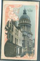 Relief - Gaufrée - Embossed - Prage - Fleurs Blanches - église - TBE - Boulogne Sur Mer