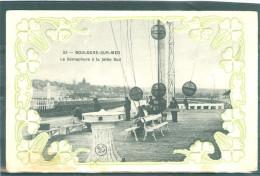 Relief - Gaufrée - Embossed - Prage - Fleurs Blanches - Sémaphore - TBE - Boulogne Sur Mer