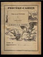 """PROTÈGE CAHIER """" LE RENARD ET LA CIGOGNE  """"  Fables De La FONTAINE - Protège-cahiers"""