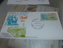 Fdcvoilier Wallis Et Futuna 1992 (premier Jour) Exposition Universelle De Seville - Wallis-Et-Futuna