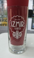 AC - IZMIR RAKI WHITE COLOURED LOGO CLEAR GLASS FROM TURKEY - Other Collections
