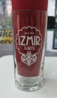 AC - IZMIR RAKI WHITE COLOURED LOGO CLEAR GLASS FROM TURKEY - Other Bottles