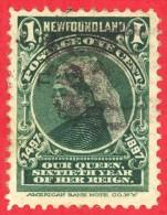 Canada Newfoundland # 61-  1 Cent - O F - Dated  1897 - Queen Victoria / Reine Victoria - 1865-1902