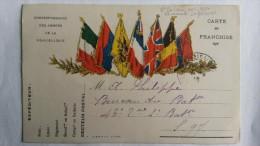 CARTE FRANCHISE /1916 - Militaria