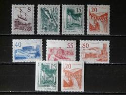 YOUGOSLAVIE - 1959 N° 792/800 (6** / 3 *) - Neufs
