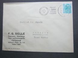 1961 , Potsdam - Rotes Kreuz   , Sonderstempel  , Klarer Stempel Auf Beleg - [6] République Démocratique