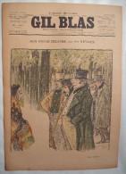 . GIL BLAS . 1896 . N� 16-19 AVRIL: MON ONCLE HILAIRE par POL NEVEUX .dessins de GUILLAUME, STEINLEN , BALLURIAU ..