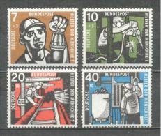 1957 GERMANY WELFARE MINING MICHEL: 270-273 MLH * - [7] Federal Republic