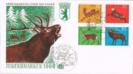 16779. Carta F.D.C. BERLIN (Alemania Berlin) 1966. Jugendmarken. Fauna - Animalez De Caza