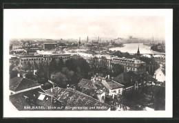 AK Basel, Blick Auf Bürgerspital Und Rhein - BS Basle-Town