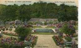 CPSM 94  ROSERAIE DE L HAY LES ROSES LJARDIN FRANCAIS ET LE MUSEE 1938 - L'Hay Les Roses