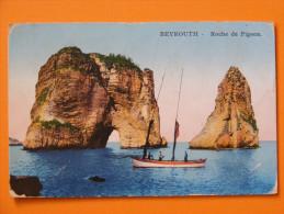 CPA Beyrouth (Liban) - Roche de Pigeon