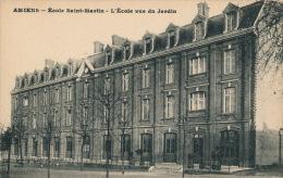 AMIENS - Ecole Saint Martin - L'École Vue Du Jardin - Amiens