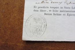 Documento Di Matrimonio Felix Romano Periodo Borbonico - Historische Dokumente