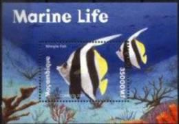 MOZAMBIQUE, 2001, MARINE FAUNA, R#B.63, YV#B.43, MNH - Mosambik