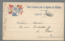 CARTE POSTALE EN FRANCHISE WW1 -  DRAPEAUX - JOFFRE - Marcofilia (sobres)