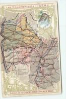 CARTE Des Routes Du Département De L' Isère - Publiée Par Chocolat D' AIGUEBELLE -  2 Scans - Old Paper