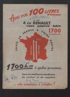 Prospectus Pour La 4CV RENAULT  (PPP2353) - Publicités