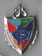 INSIGNE BCS BATAILLON DE COMMANDEMENT ET DE SOUTIEN , TRIDENT , Relief - Sans Fabricant - Esercito