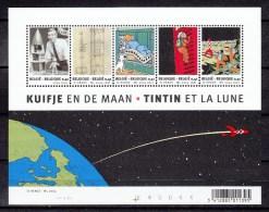 Belgique Belgie 2004,5V In Block,Kuifje En De Maan,Tintin Et La Lune,Hergé,Neuf/MNH/Postfris(L2142) - Blocks & Kleinbögen 1962-....