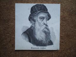 Stampa ´800 Originale Benvenuto Cellini Xilografia Litografia Incisione - Colecciones