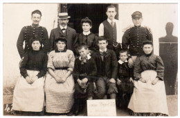 CPA PHOTO CANTINE MEYGREL COLLET ? 30 EME DRAGONS JUILLET 1908 ANIMATION