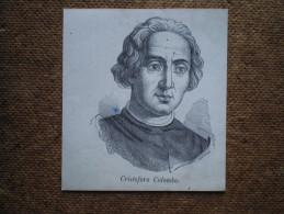 Stampa ´800 Originale Cristoforo Colombo Xilografia Litografia Incisione - Vieux Papiers