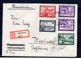 8193 Deutschland Germany Drittes Reich Mi 773,774,776 U. 778(2) Auf R-Brief Von Vöhrenbach Nach Wiesbaden  AnkSt. Rücks. - Germany