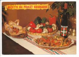 PK-CP Frankreich-France, Recette Du Poulet Basquaise, Gebraucht, Siehe Bilder!*) - Küchenrezepte