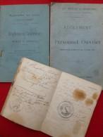 BRAHIC MINEUR ARCHIVES MINES GRAND COMBES ALAIS - Historische Dokumente