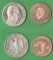 Kennedy E Adenauer Medaglie Medaillen - Allemagne