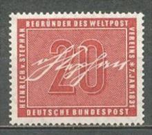 1956 GERMANY H. VON STEPHAN MICHEL: 227 MNH ** - [7] Federal Republic