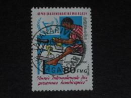 MADAGASCAR YT 649 OBLITERE - HANDICAP AU TRAVAIL