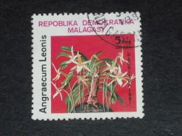 MADAGASCAR YT 645 OBLITERE - FLORE FLEUR ORCHIDEE
