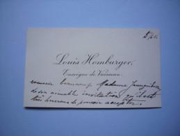 CDV Louis Homburger Enseigne De Vaisseau - Cartes De Visite
