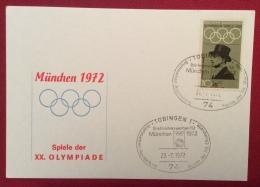 OLIMPIADI  DI MUNCHEN  MONACO  1972 - ANNULLO OLIMPICO DI  TUBINGEN 1 - Ete 1972: Munich