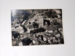 Carte Postale Ancienne : SALIES DE BEARN : Vue Aérienne Du Quartier De L' Eglise - Salies De Bearn