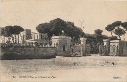 ASIE - LIBAN - BEYROUTH - L'Entr�e du Parc