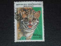MADAGASCAR YT 780 OBLITERE - CAT CHAT DU BENGALE