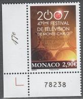 MONACO 2007 - N°2595 - NEUF** - Unused Stamps