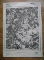 GRAND PHOTO VUE AERIENNE 66 Cm X 48 Cm De 1979 PECQ HERINNES - Cartes Topographiques
