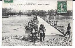 Cpa Avignon / Pont Sur Le Rhône Par Le 7è Génie . - Avignon (Palais & Pont)