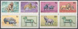 Guinea 1968 - MNH - Elephants, Hippo, Leopard, Lion, Monkey - Francobolli