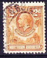 Nordrhodesien - König Georg V. (Mi.Nr.: 4) 1925 - Gest. Used Obl. - Rhodesia Del Nord (...-1963)