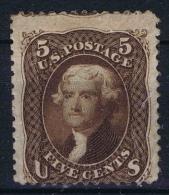 USA  Yv Nr 21 MH/*  1861 Has A Light Gum Fold - 1847-99 Algemene Uitgaves