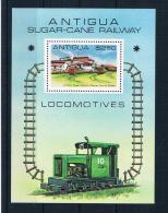 Antigua 1981 Eisenbahn Block 53** - Antigua Und Barbuda (1981-...)