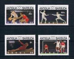 Antigua Und Barbuda1987 Olympia Mi.Nr. 1020/23 Kpl. Satz ** - Antigua Und Barbuda (1981-...)