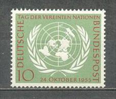 1955 GERMANY 10 YEARS U.N.O. MICHEL: 221 MNH ** - [7] Federal Republic