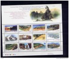 Canada #1483a, CANADA DAY: PROVINCIAL & TERRITORIAL PARKS,   SS MNH   1993 - Blocs-feuillets